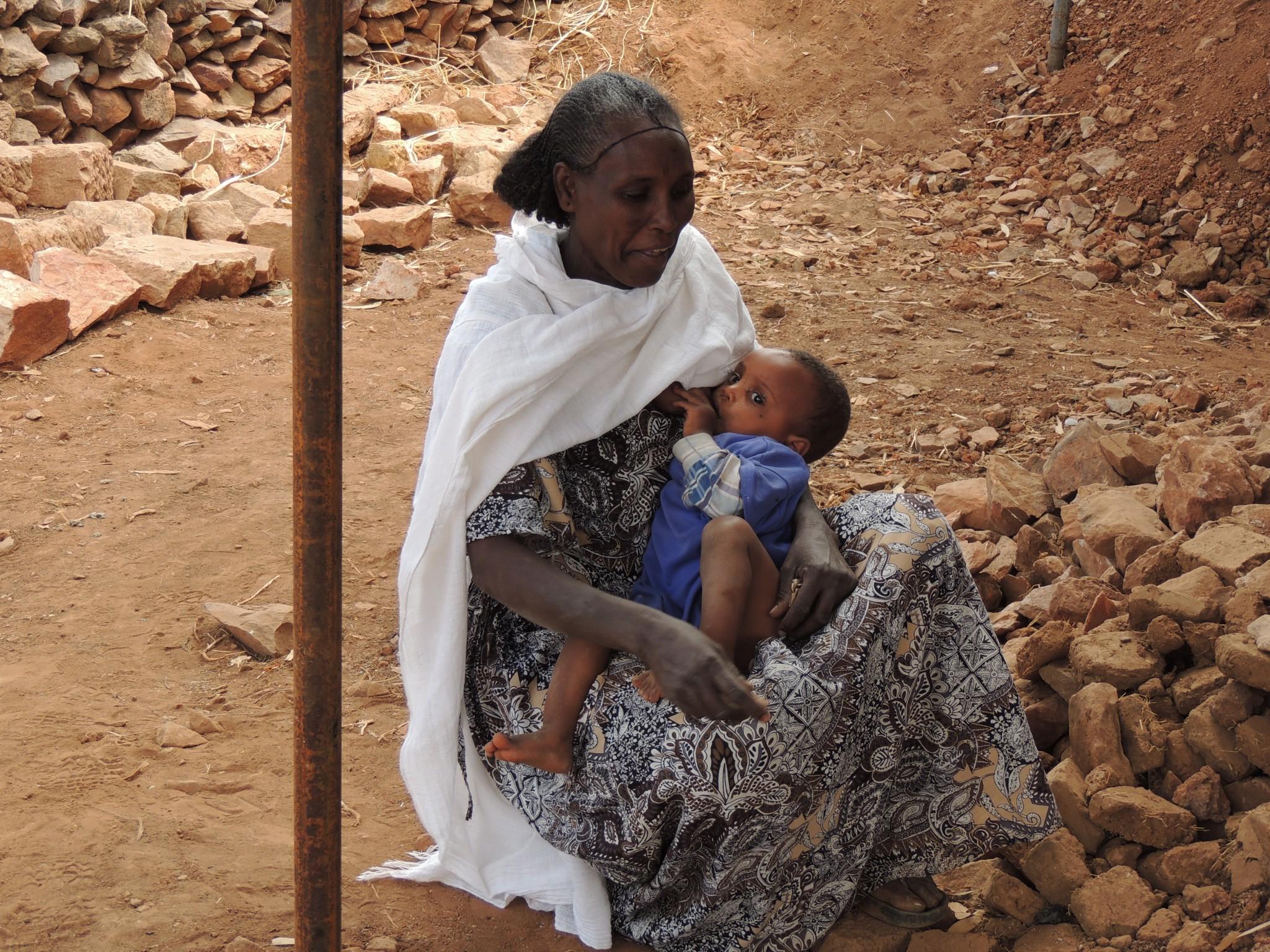 Ethiopie, bezoek aan de vele dorpjes.