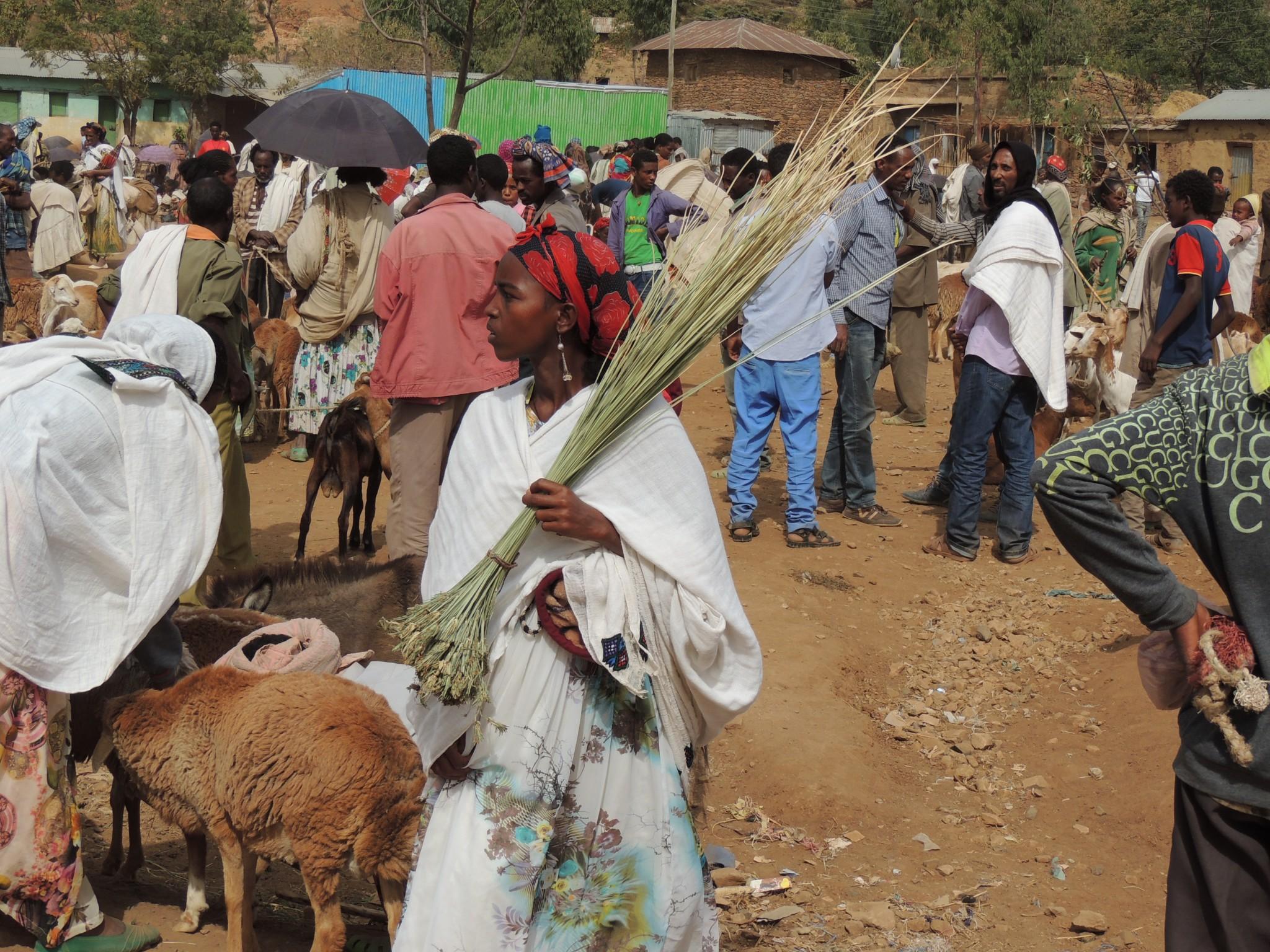 Ethiopie, lokale markt