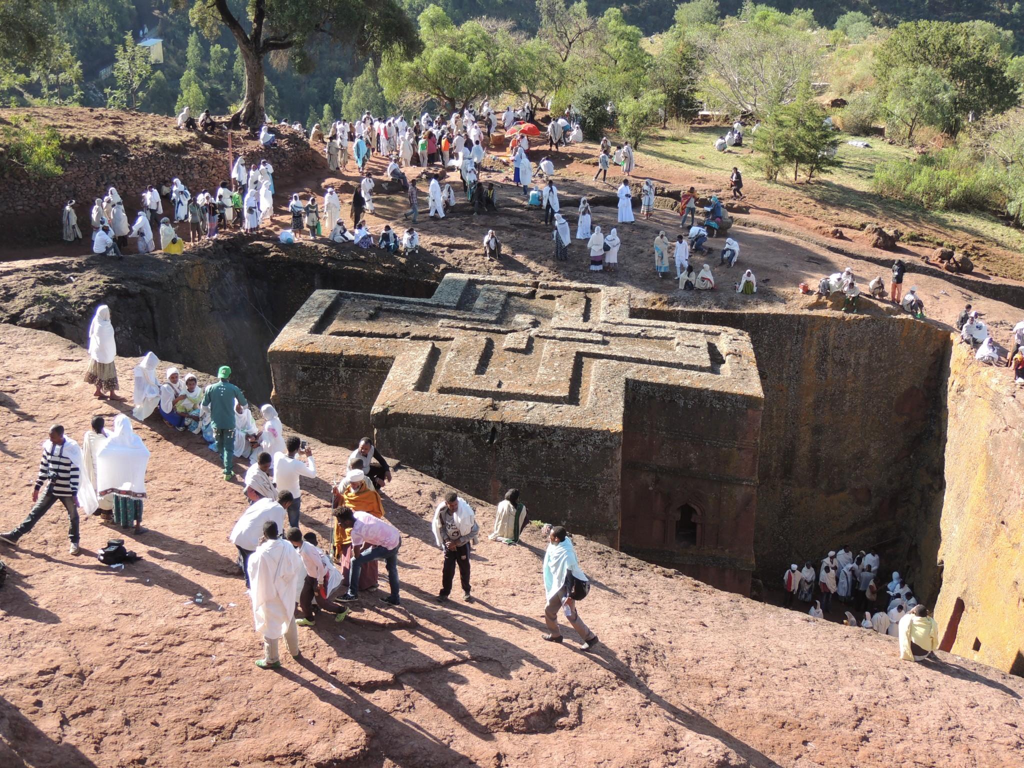 Ethiopie, Sint-Joriskerk in Lalibela