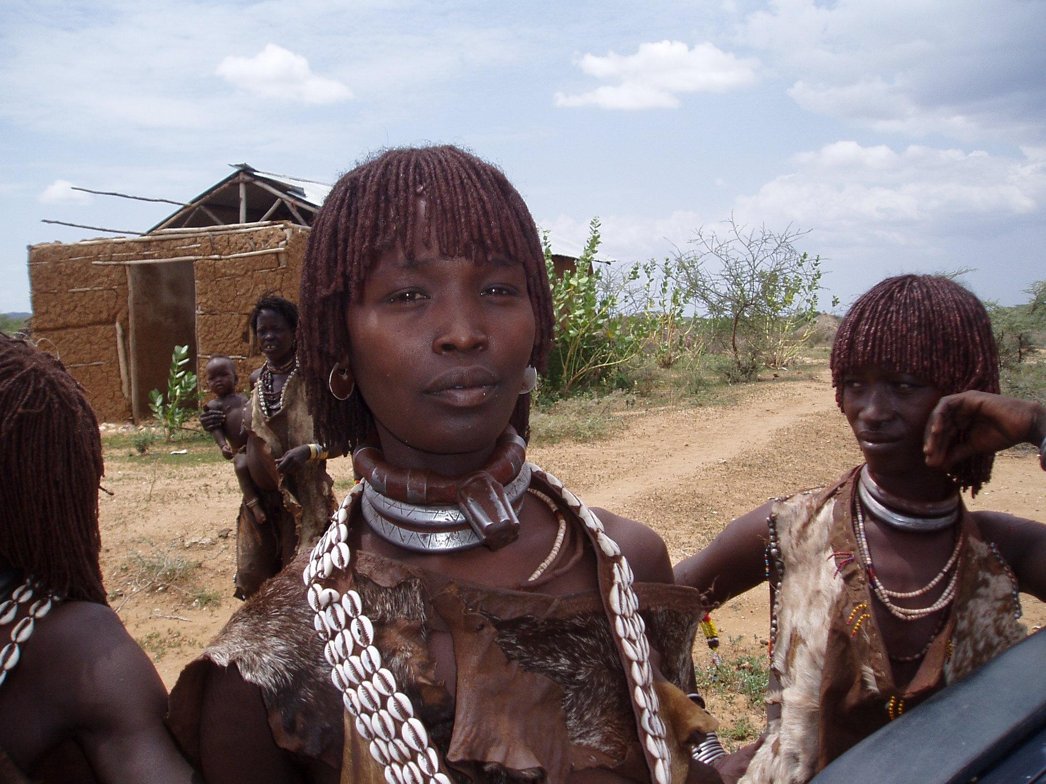 Ethiopie, bezoek Hammar dorp