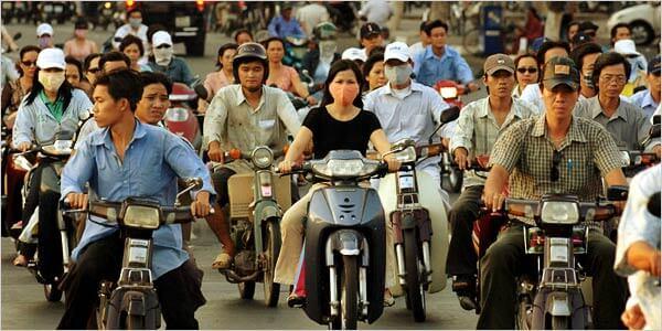 Vietnam, het verkeer in Hanoi
