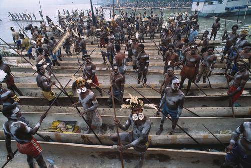 Papua reis – Asmat Fire1