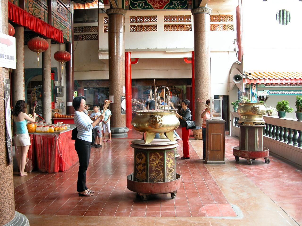 Maleisië, Chinese temple in Kuching - Sarawak