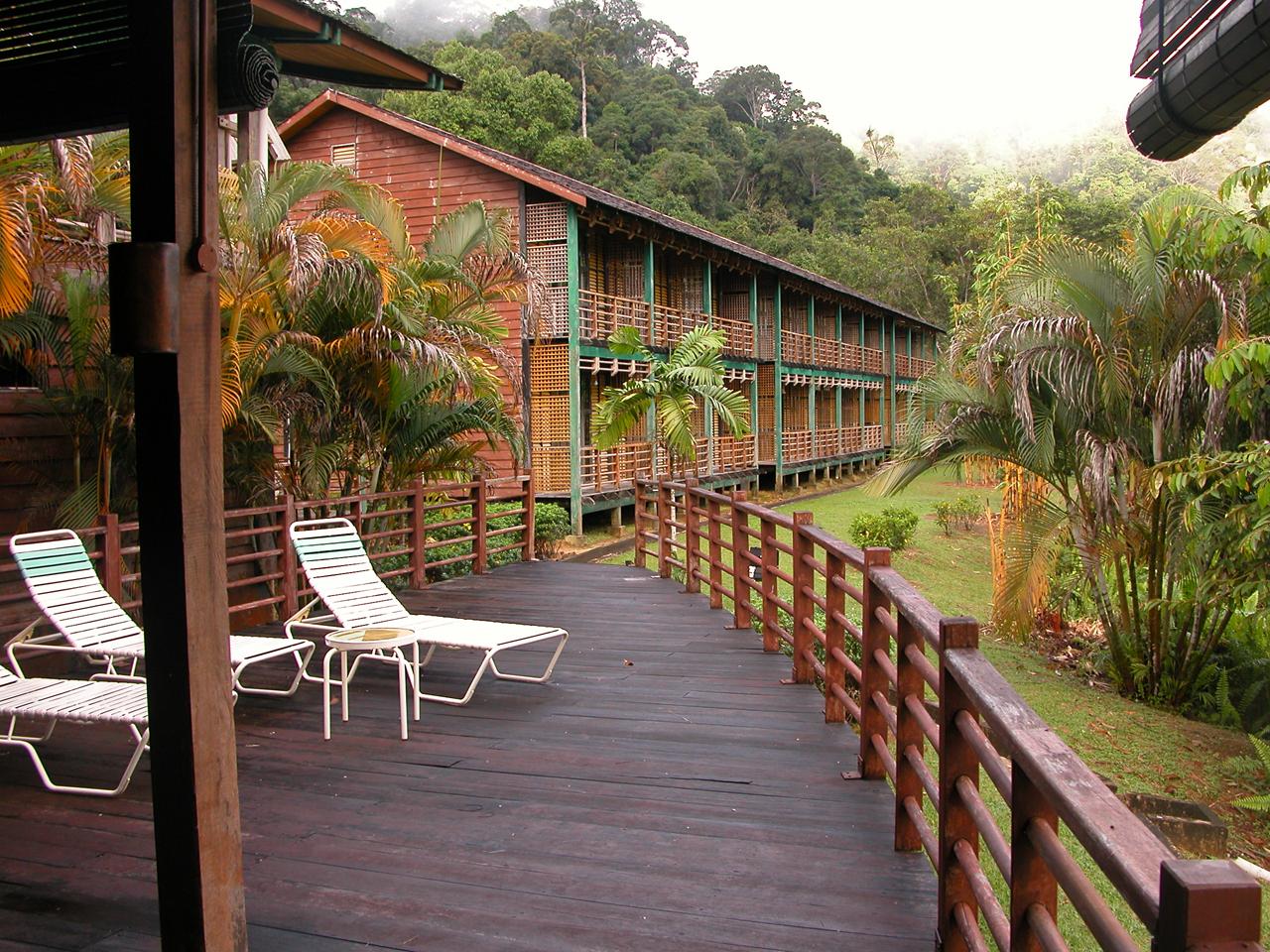 Maleisië, ons verblijf die in het regenwoud aan de Rajan rivier - Sarawak
