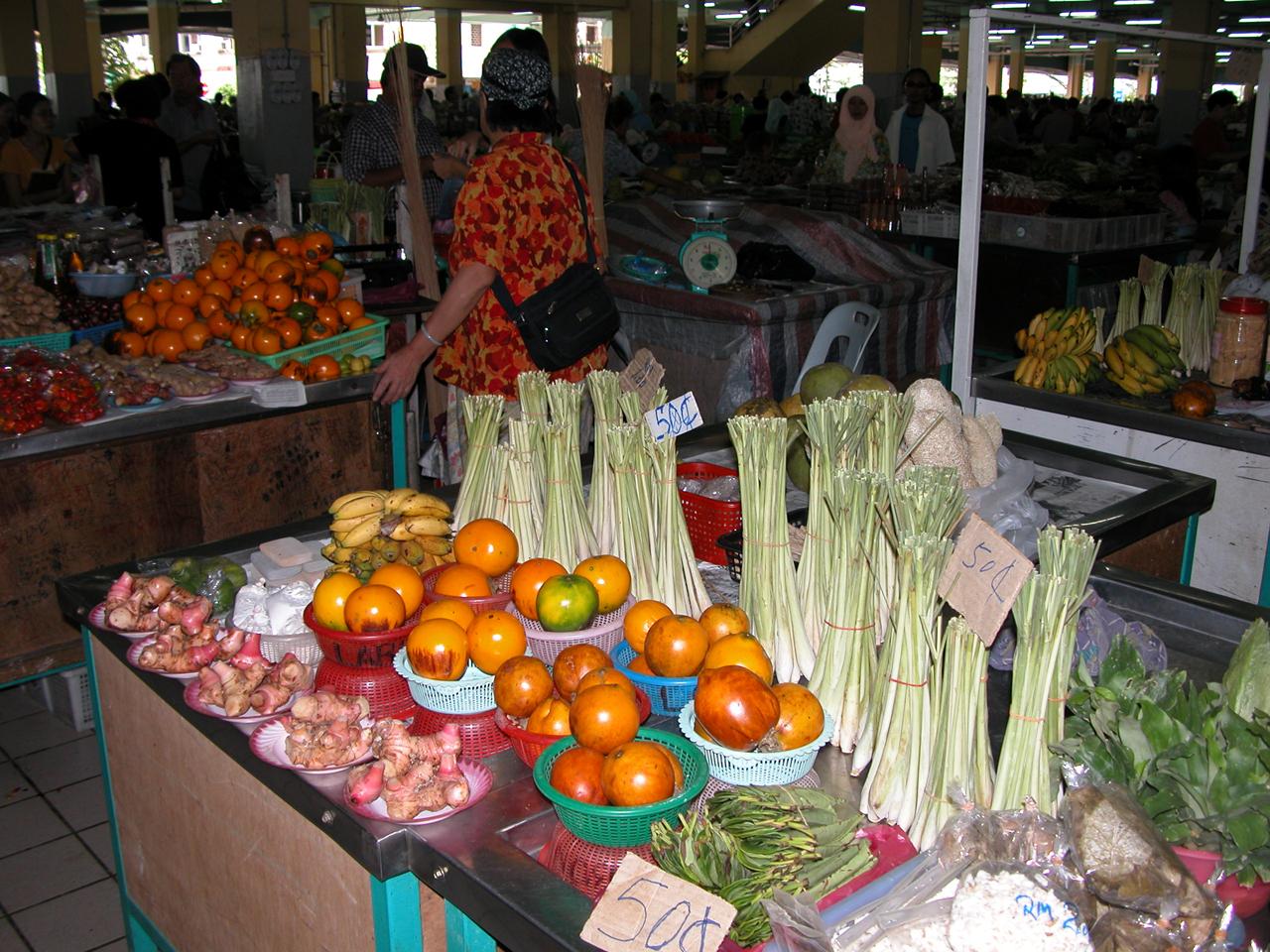 Maleisië, op de lokale markt in Kapit - Sarawak