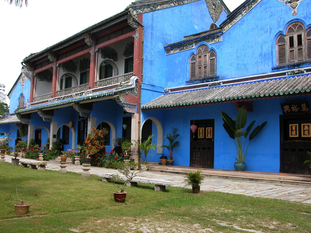 Maleisië, blauwe huis in Penang