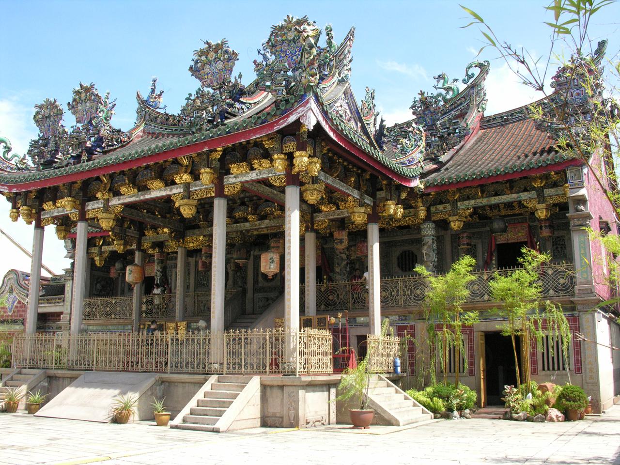 Maleisië, prachtige temple in Penang