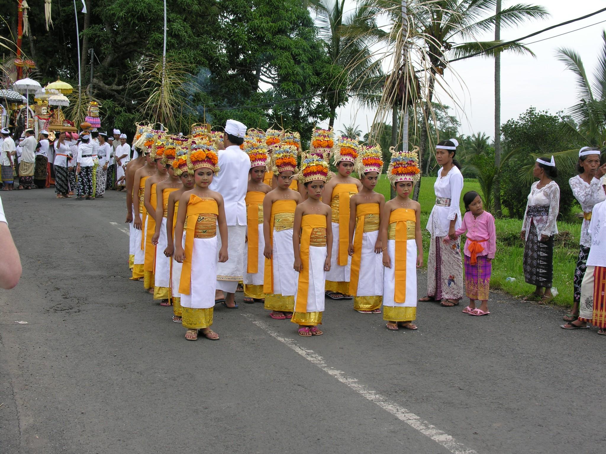 Indonesië, temple feest op Bali