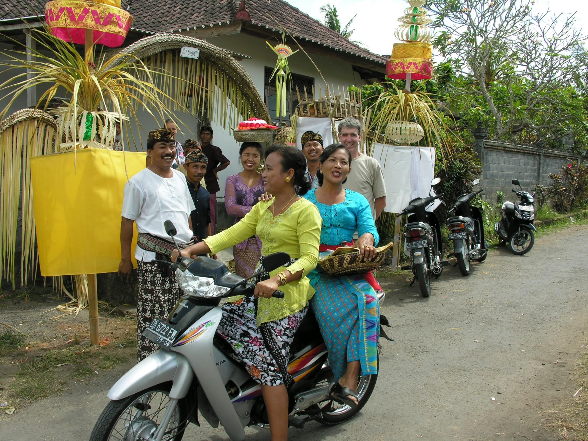 Indonesië, trouwfeest op Bali