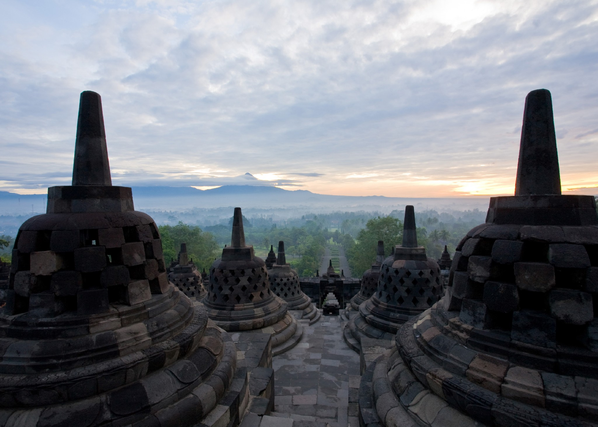 Indonesië, Borobudur temple in Yogyakarta