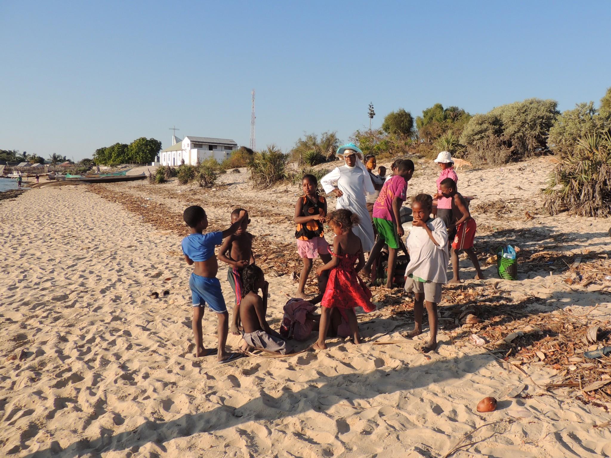 Madagascar, op het strand van Belo sur Mer