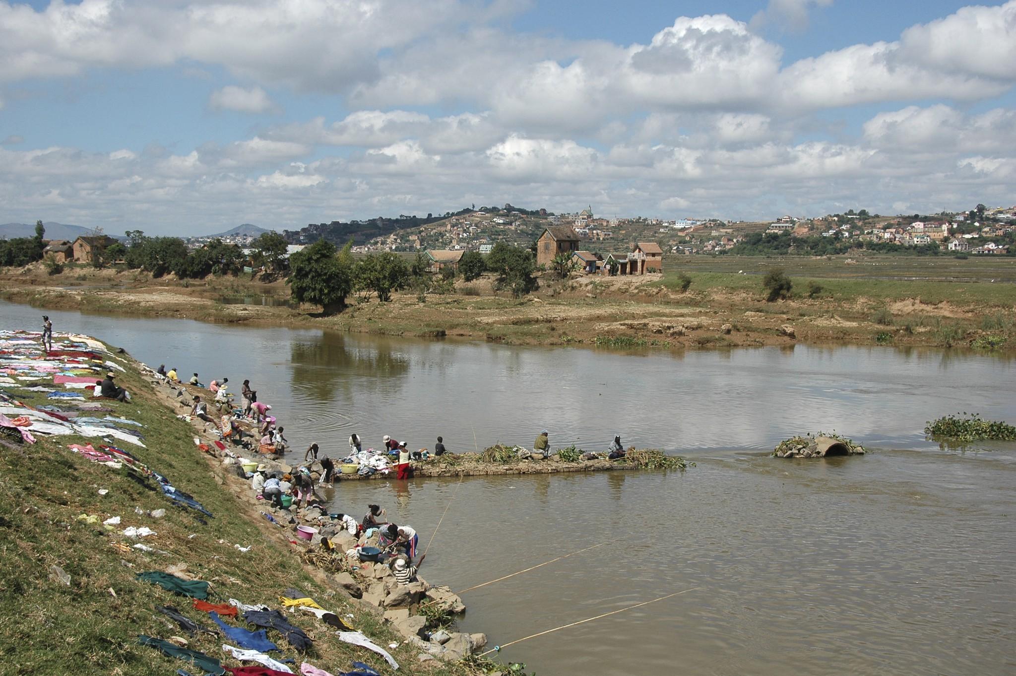 Madagascar, zicht buiten de stad Tana