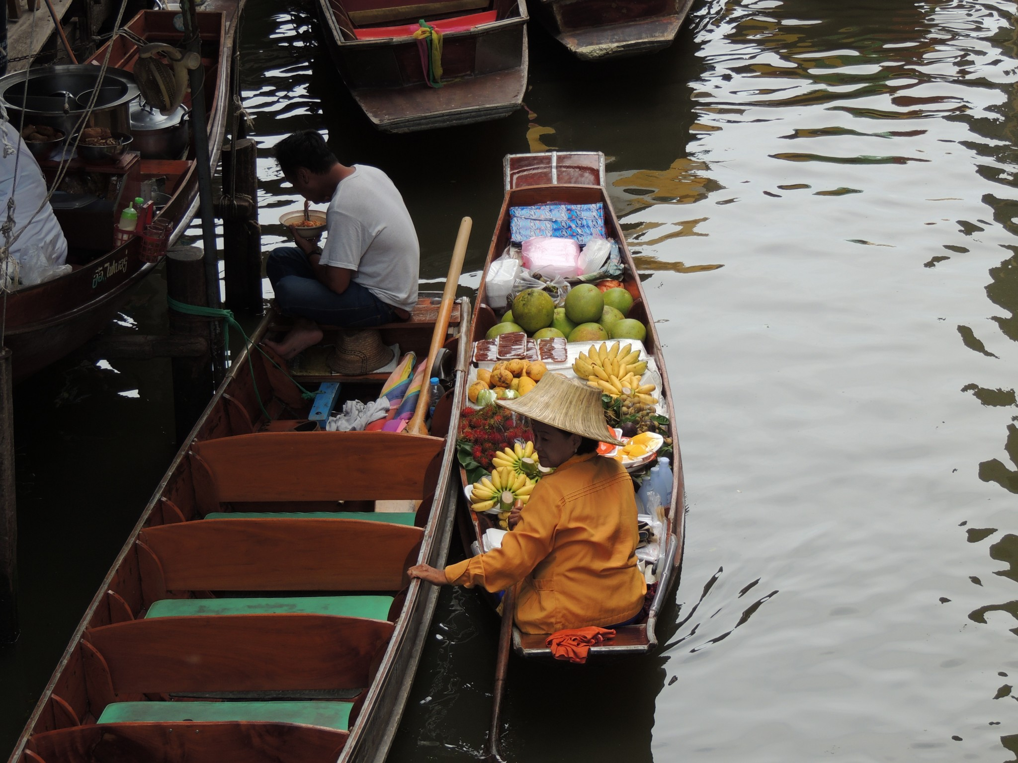 Thailand, floating market in Bangkok