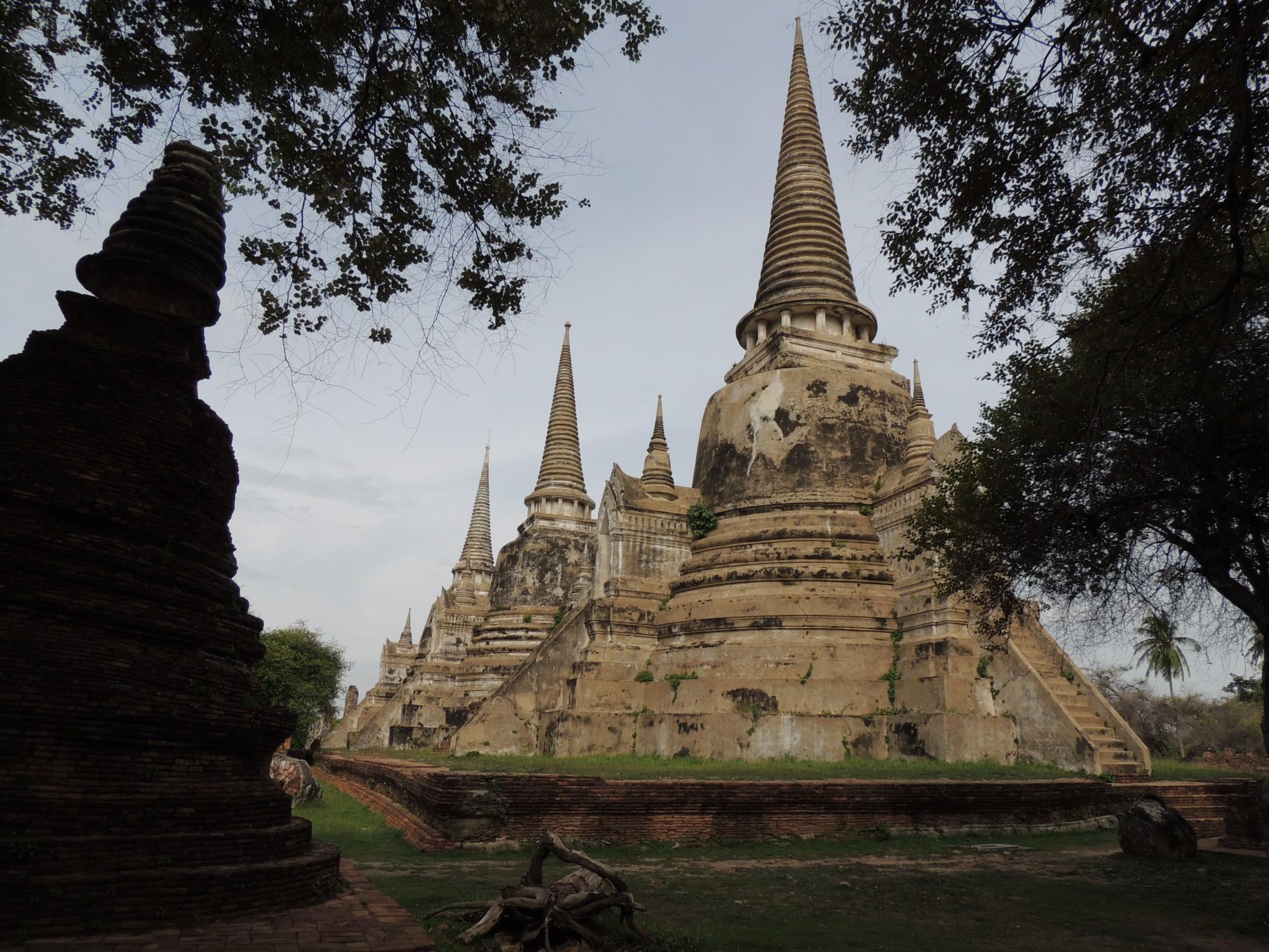 Thailand, Ayutthaya ruïnes historische grootstad