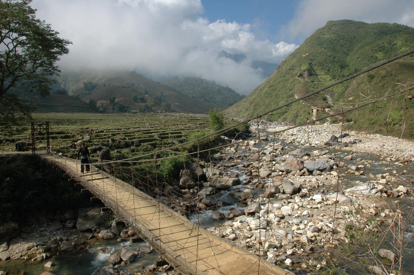 Vietnam, wandelen in omgeving van Sapa