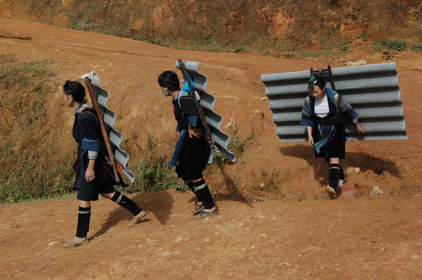 Vietnam, Black Hmongs omgeving Sapa