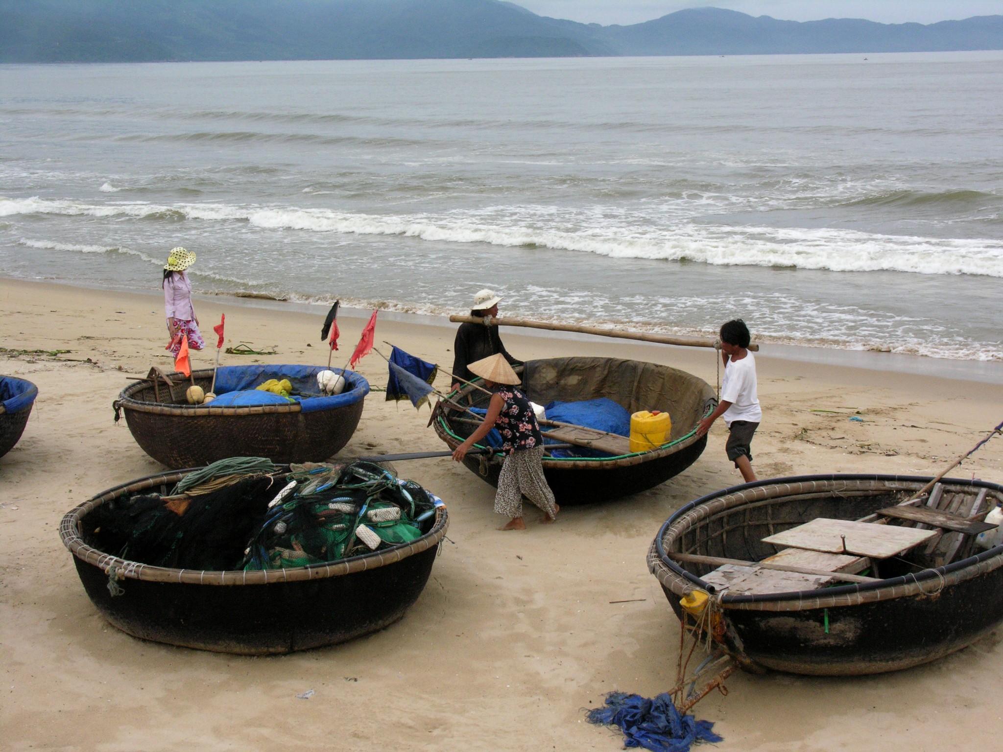 Vietnam, het strand van Danang