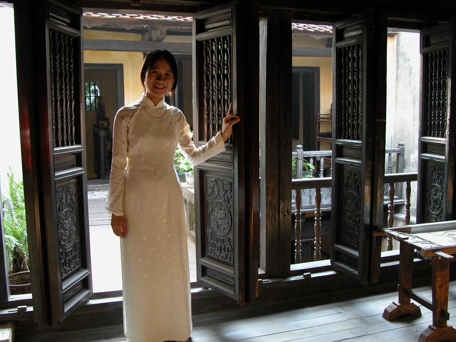 Vietnam, een traditioneel huis in Hanoi