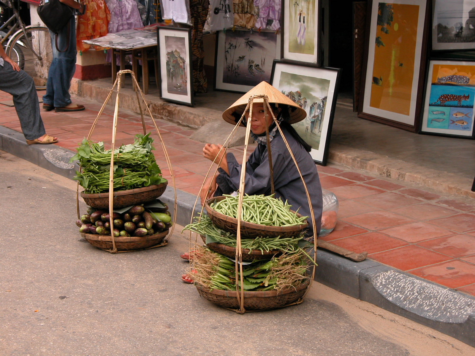 Vietnam, straatbeeld in Hoian