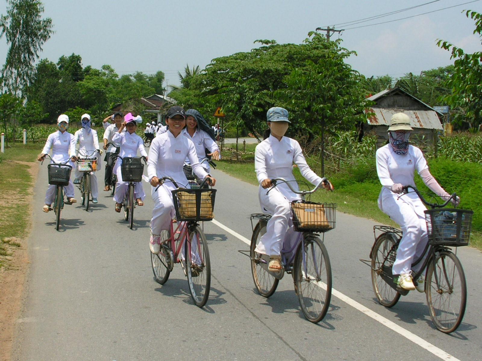 Vietnam, scholieren in Hoian