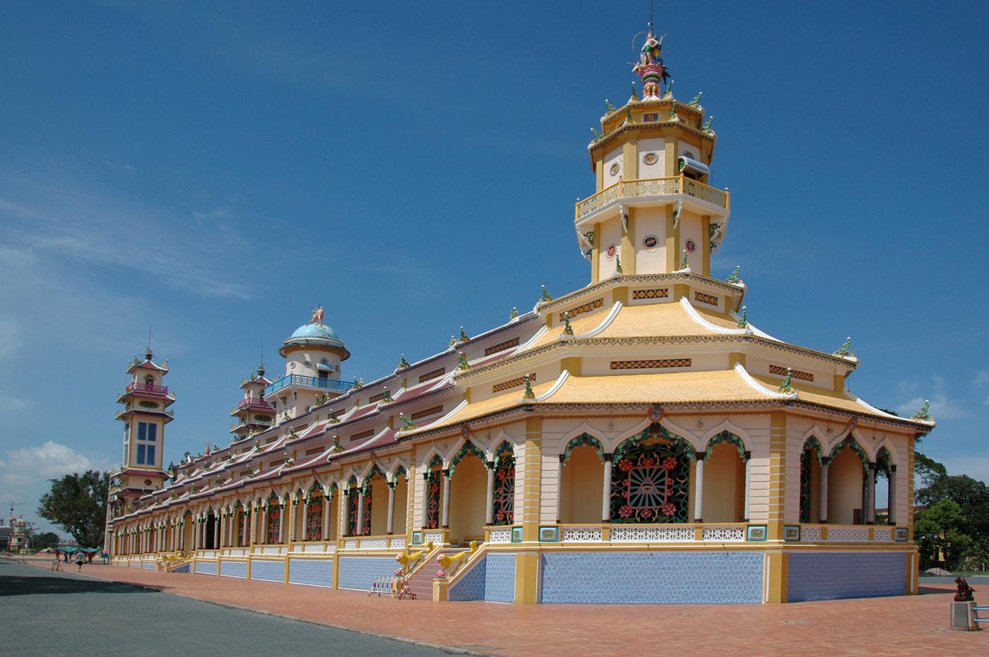 Vietnam, cao dai temple in tay ninh
