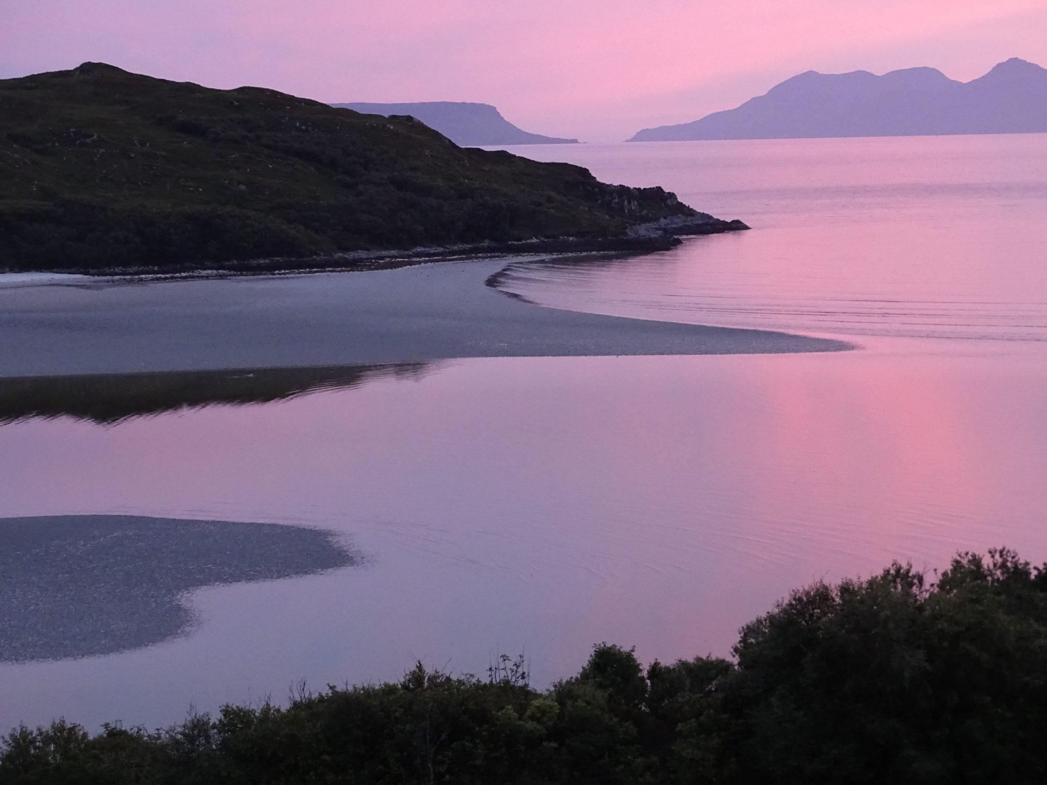 Morar strand evening light